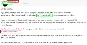 spam mail ovh relance